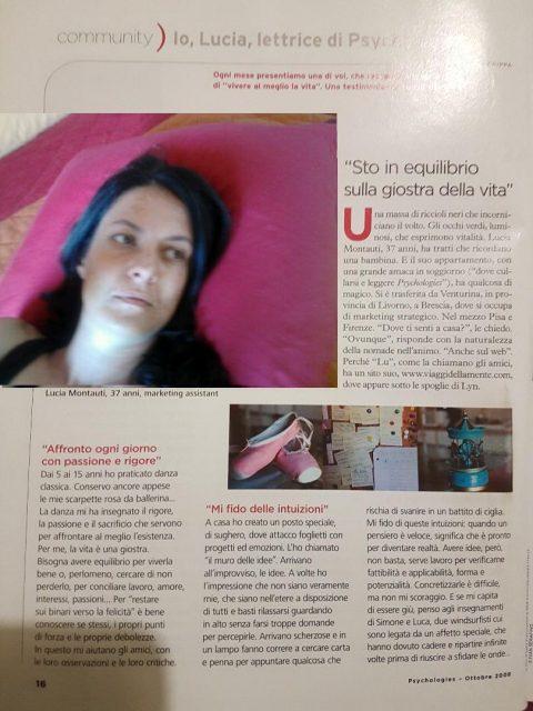 Io Lucia lettrice di Psychologies